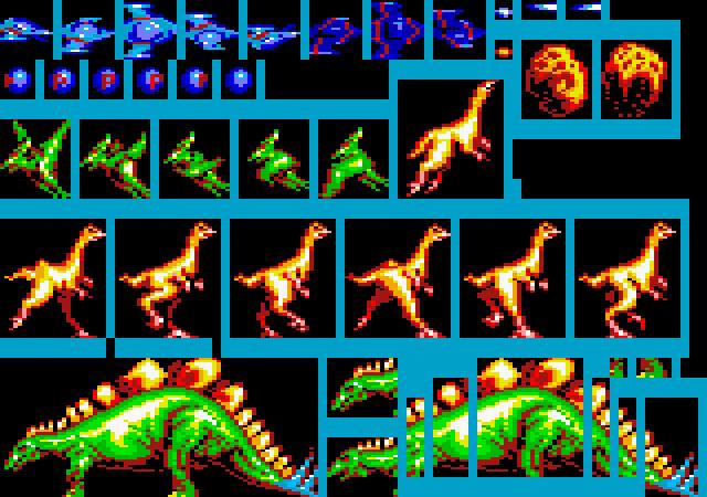 Graphics for Prehistoric Island (Amstrad CPC)